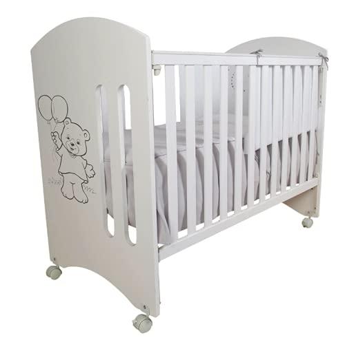 Cuna para bebé, modelo osito + Colchón Viscoelástico + Edredón y Protector de Cuna...