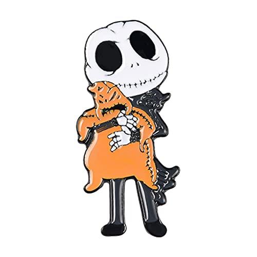 Perfeclan Carino Halloween Spilla Spille Smalto Fantasma Modello Teschio Distintivi per Ragazze Ragazzi Vestiti Borse Zaini Giacche Portafogli Decor Artigianato