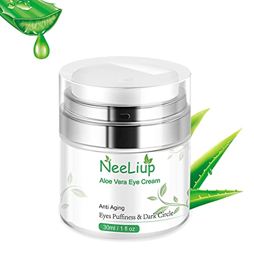 Aloe Vera Eye Cream Anti Aging for Bags Under Eyes, Lines and Wrinkles and...