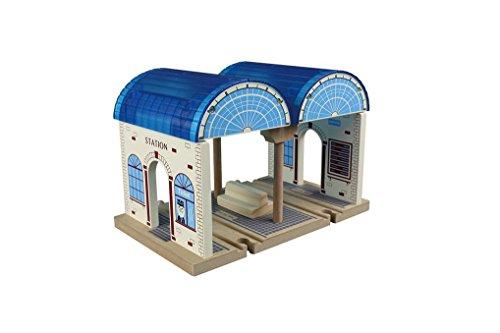Toys For Play MA50955 - Juego de Tren de Madera para estación Central
