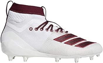 adidas Men's Adizero 8.0 SK Football Shoe, White/Maroon/Collegiate Burgundy, 10.5 M US