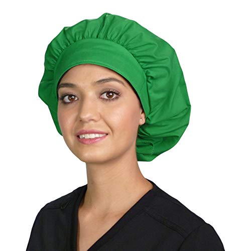 Sparkling EARTH Banded Bouffant Ponytail Classic Surgical Style Scrub...