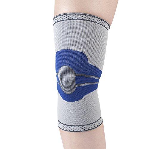 Champion Elastic Knee Support Compression Sleeve, Gray, Medium