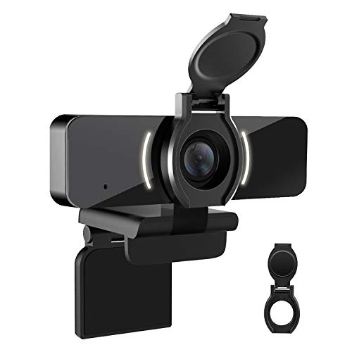 LarmTek 1080p Webcam mit Mikrofon und DatenschutzabdeckungWebkamera USB KameraComputer Hd Streaming Webcam fur Pc Desktop und Laptop mit MikrofonW4De