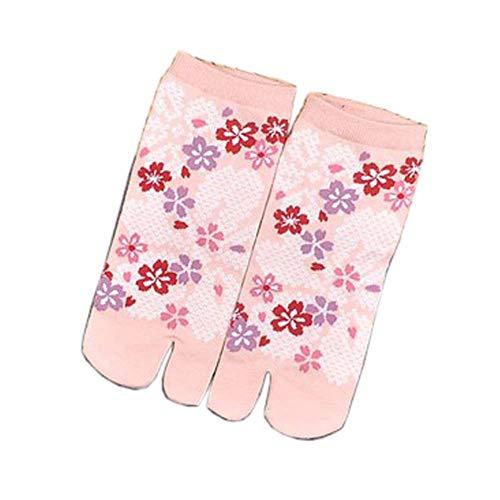Japanische Art Kreative Sandale Split Toe Tabi Ninja Geta Socken Geisha Socken für Frauen, S-16