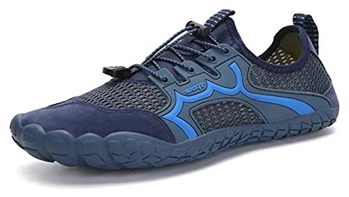 ZKDY Zapatos de Agua al Aire Libre para Hombres y Mujeres Zapatos de Playa Calcetines de Seguridad de pies Zapatos de Secado rápido Calcetines de Agua Zapatos de Playa (Color : Blue, Size : 39EU)