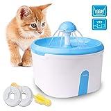 WOWGO Fuente de Agua automática para Gatos, Dispensador de Agua 2.2L con...