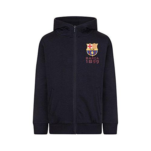 FC Barcelona - Jungen Fleece-Sweatjacke - Offizielles Merchandise - Geschenk für Fußballfans - 8-9 Jahre