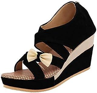 ABJ Fashion Black Stylish Wedges For Women