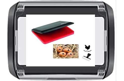 Egg Safe Stempelkissen zum Spempeln von Eiern, Lebensmittelqualität, vorgefärbt, gebrauchsfertig, Rot