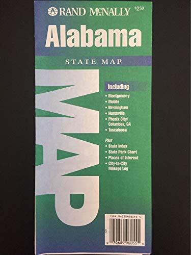 Alabama, state map: Including Montgomery, Mobile, Birmingham, Huntsville, Phenix City/Columbus, GA, Tuscaloosa (State Maps-USA) -  Rand McNally and Company, Revised Edition