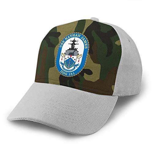 USS Nathan James(DDG-151) Unisex Adult Hats Baseball Caps Peaked Cap Gray