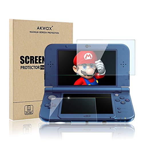 (4-Pack) Screen Protector for Nintendo 3DS XL, Akwox HD Clear Crystal PET Screen Protective Filter for Nintendo 3DS XL with Anti-Bubble and Anti-Fingerprint