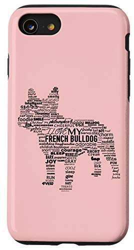 iPhone SE (2020) / 7 / 8 Cute French Bulldog Words Frenchie Love Case