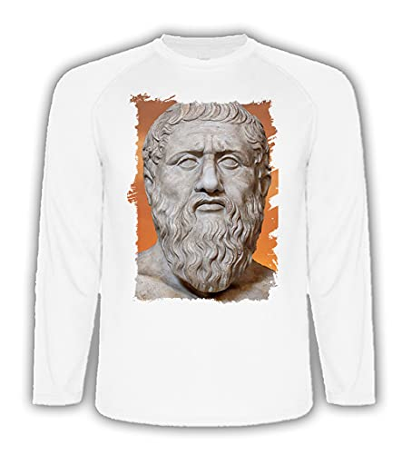 Camiseta Manga Larga A3 PLATON PLATÓN FILOSOFO Historia Tshirt