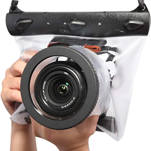 FSD-MJ - Funda Impermeable para cámara de Buceo submarina de 20 Metros para cámara Canon Nikon DSLR SLR, Transparente