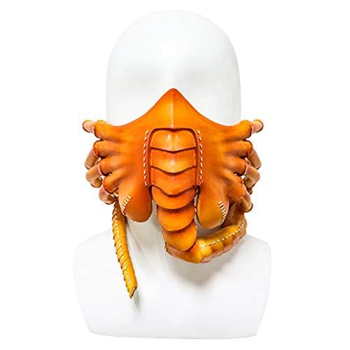 2020 Alien Facehugger Mask Half Face Hugger Cover Halloween Scary Claw Insect Pillar Máscara de látex Mujeres Hombres