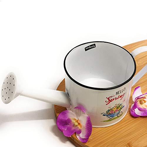Kerafactum Blumentopf Vintage Gießkanne aus Metall | Übertopf Deko Kanne Blumenkasten Pflanzkübel aus Blech für Kräuter und Zierpflanzen | Giesskanne Set mit Blumentöpfe erweiterbar Retro Style