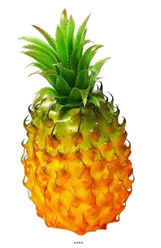 Artif-deco - Ananas fruit artificiel hauteur 21 cm et d 10 cm magnifique feuillage plastique