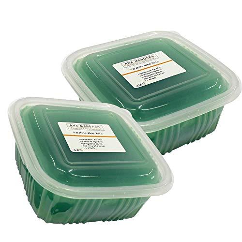 ANA MANDARA - Parafina con aloe vera 1000 ml (2 paquetes de 500ml). Tratamiento de parafina para manos y pies.