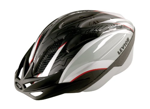 Levior Erwachsene Fahrradhelm Joker, Schwarz-Silber, M, 45205000