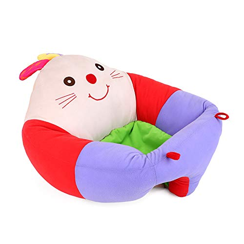 YUDIZWS Silla para bebé, Asiento Infantil Asiento de Asiento de Peluche con Forma de Animal con Forma de bebé con Forma de bebé cómoda para bebé aprendiendo para Sentarse Silla,Rabbit Sofa