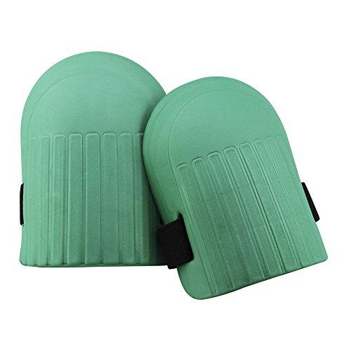com-four® 1 Paar Knieschoner für Gartenarbeiten - Knieschützer in grün - Kniepolster aus leichtem Eva (1 Paar - Knieschoner grün)