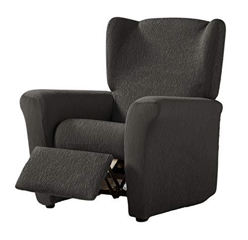 Zebra Textil Elastische Husse Relax-Sessel Beta Größe 1 Sitzer (Standard), Farbe Grau (Mehrere Farben verfügbar)