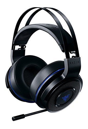 Razer Thresher 7.1 per PlayStation - Cuffie Wireless da Gioco per PS4, PS5 e PC, Suono Dolby Surround 7.1, Fino a 16 ore, Controlli su Cuffia, Leggeri Cuscinetti Auricolari in Similpelle, Nero