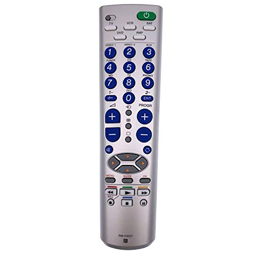 RM-V302T Universal Remote Control for DVD/TV/VCR/SAT/AMP by QINYUN