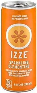 Izze Sparkling Juice Clementine 8.4 oz [並行輸入品]