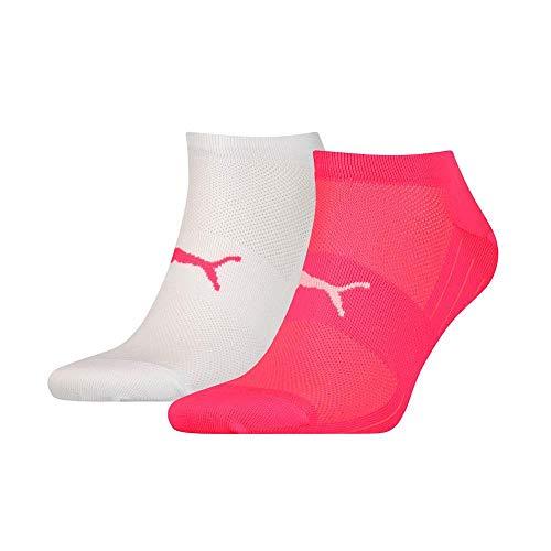 PUMA Damen PERFORMANCE TRAIN LIGHT SNEAKER 2P Socken, pink/White, 35-38 (2er Pack)