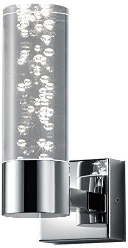 Trio Leuchten LED Bad Wandleuchte Bolsa 282410106, Chrom, Acryl klar mit Bubbles, 3.2 Watt