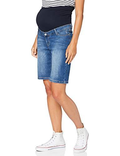 ESPRIT Maternity Damen Bermuda Denim OTB Umstandsshorts, Blau (Medium Wash 960), (Herstellergröße: 38)