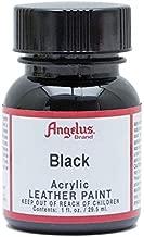 Angelus Acrylic Leather Paint, Black, 1 oz. (50-1948-A1)