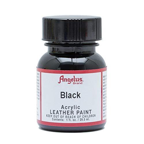 Angelus Acryl-Lederfarbe, Unisex-Erwachsene, 50-1948-A1, schwarz, 1 Oz Standard