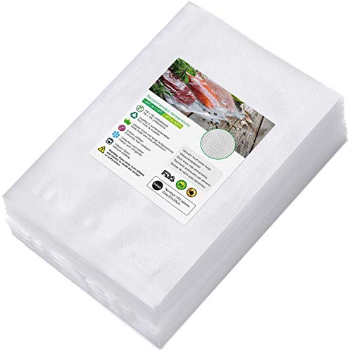 BoxLegend 100 Bags 20cmx30cm Fit for All Vacuum Sealers BPA Free, Heavy Duty, Puncture Prevention, Great for Food Storage, Meal Prep or Sous Vide