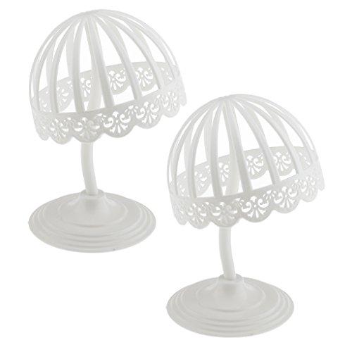(2 Stück Packung) Baby Kinder Schaufenster Deko Hutständer Perückenständer Perückenhalter Hüte Display Ständer (Weiß)