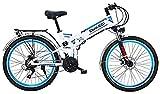 Fangfang Bicicletas Eléctricas, 2020 actualizado Montaña Bicicleta eléctrica 300W 26 '' Bicicleta eléctrica con batería extraíble 48V 10Ah 21 Velocidad Shifter E-Bici for Adultos,Bicicleta