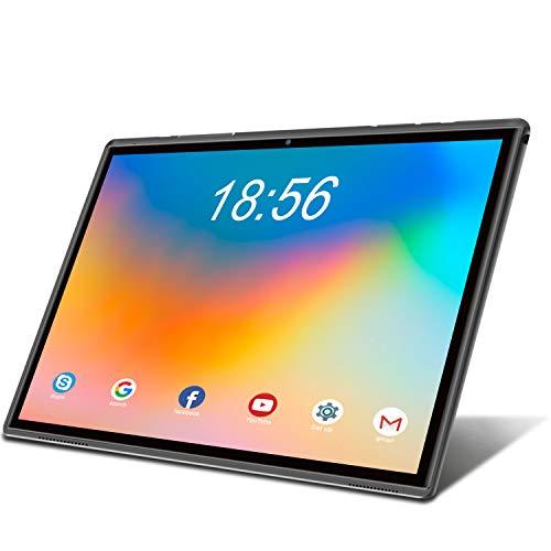 Tablet 10.1 Pulgadas 4G LTE Call,Android 10.0 Google Certificación GMS Tablets,3Go RAM + 32/128Go ROM,Quad Core,8000mAh Batterie,5MP +8MP, WiFi/GPS/OTG/Bluetooth/Netfilix Tablet PC (Gris)