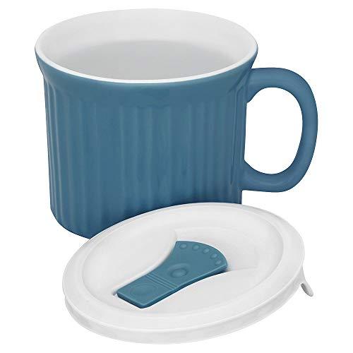 CorningWare Colours Pop-Ins Pool 20-oz Mug w/Lid, 4.5in x 3.5in, Blue