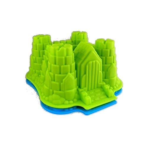 Silikon Kuchenform Backform Silikonform Burg 22,5x19,5cm (grün)