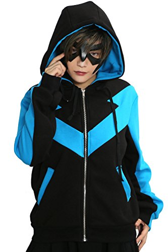Xcoser Film Kapuze pullover Jacke Cosplay Kostüm Hoodie Blau Schwarz Baumwolle Sweatshirt Top Kleidung für Frühling und Herbst