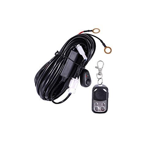 HAIHAOYF Alambre de Barra de luz LED, 2M 12V 40A Cableado Relé Kit de telefónito Fusible para Conducir automáticamente Offroad LED Work Lallmp