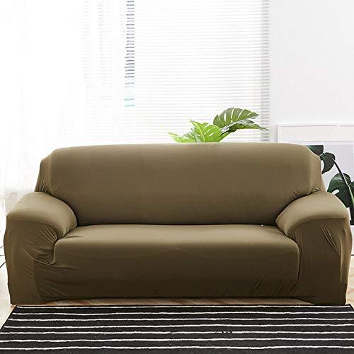 ZWL Einfarbige Schonbezüge Sofabezug Stretch-Sofabezüge für das Wohnzimmer Sofabezug Sofa Handtuch Sofabezug,Grey Green,2-Seater 145-185cm