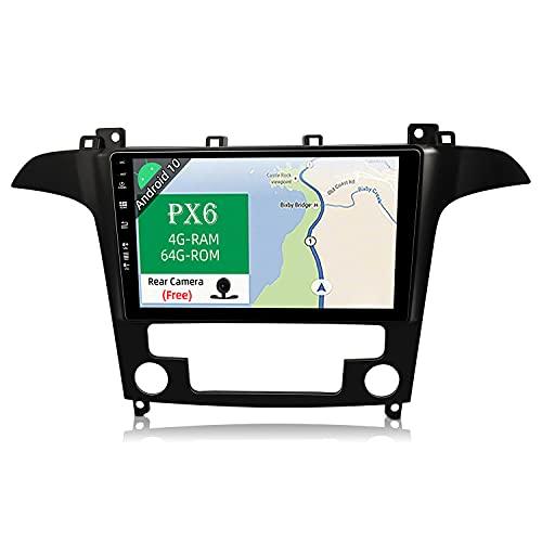 JOYX PX6 Android 10 Autoradio Compatibile Per Ford S-Max (2007-2008) - [4G+64G] - Telecamera Canbus Gratuiti - 9 Pollici GPS 2 DIN - Supporto HDMI 4K-Video AHD-Camera DAB 4G WLAN Bluetooth4.0 Carplay