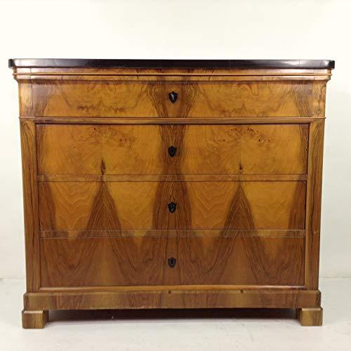 Antike klassische kubische Biedermeier Kommode Süddeutsch um 1830 mit 4 Schubladen. Spiegelgleich in Nussbaum furniert! Hochkommode Anrichte Diele Flur Wohnzimmer Wäschekommode Wickelkommode