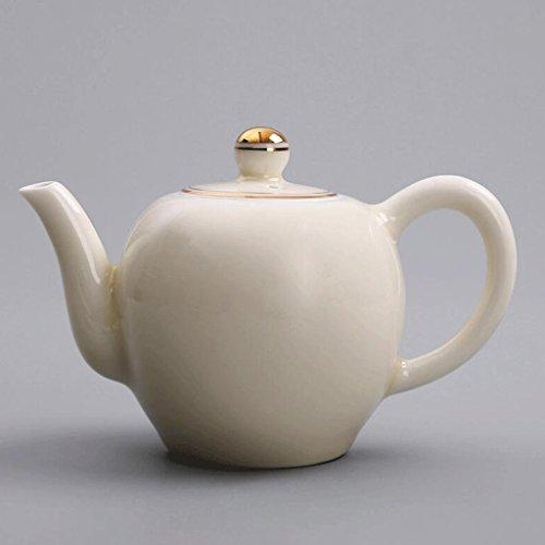 Céramique Manuel Théière Porcelaine Couverture Porcelaine Bol Blanc Ménage Thé Pot Poignée Petite Capacité 250 ML UOMUN