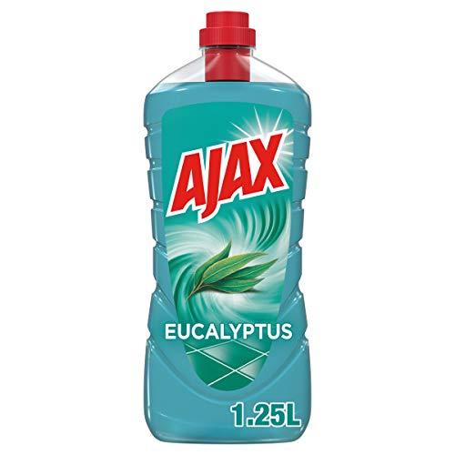 AJAX - Nettoyant Ménager Ajax Eucalyptus - Produit Sol & Multi Surfaces - À Utiliser Pur ou Dilué pour le Ménage de Toute la Maison - Propreté et Fraîcheur Garanties - Sans Rinçage - 1,25 L