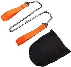 Sierra de cadena de supervivencia plegable Sierra de cadena manual,sierra de cadena de mano portátil,herramienta de supervivencia para camping/senderismo,motosierra,engranaje,cadena larga